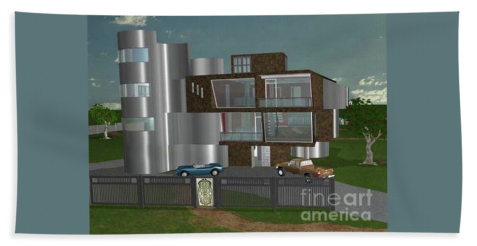 Concept Home Hand Towel featuring the digital art Concept Home by Peter Piatt