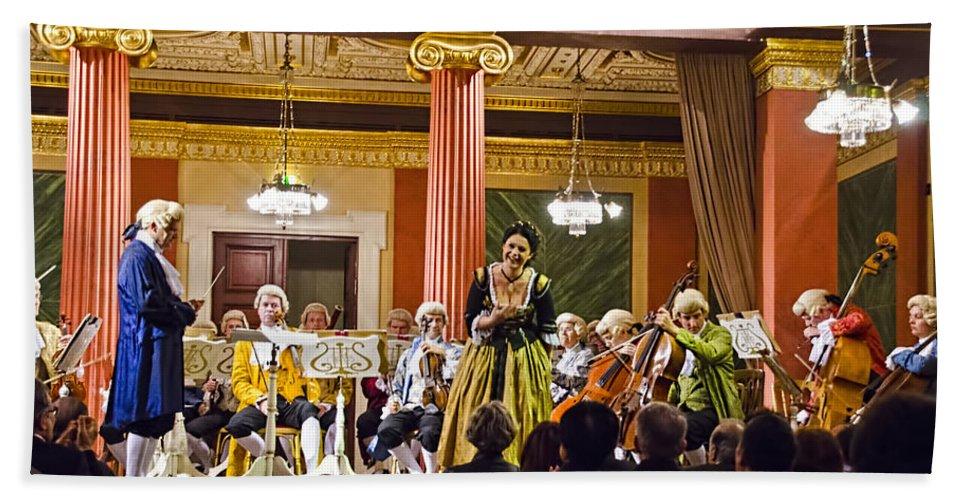 Gesellschaft Der Musikfreunde Bath Sheet featuring the photograph Concert In Vienna by Jon Berghoff