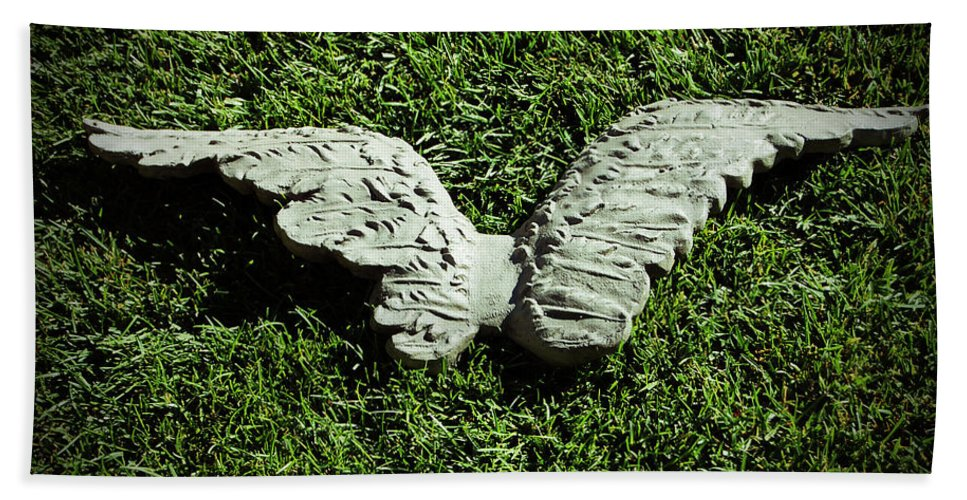 Concrete Bath Sheet featuring the photograph Concrete Angel by Holly Blunkall