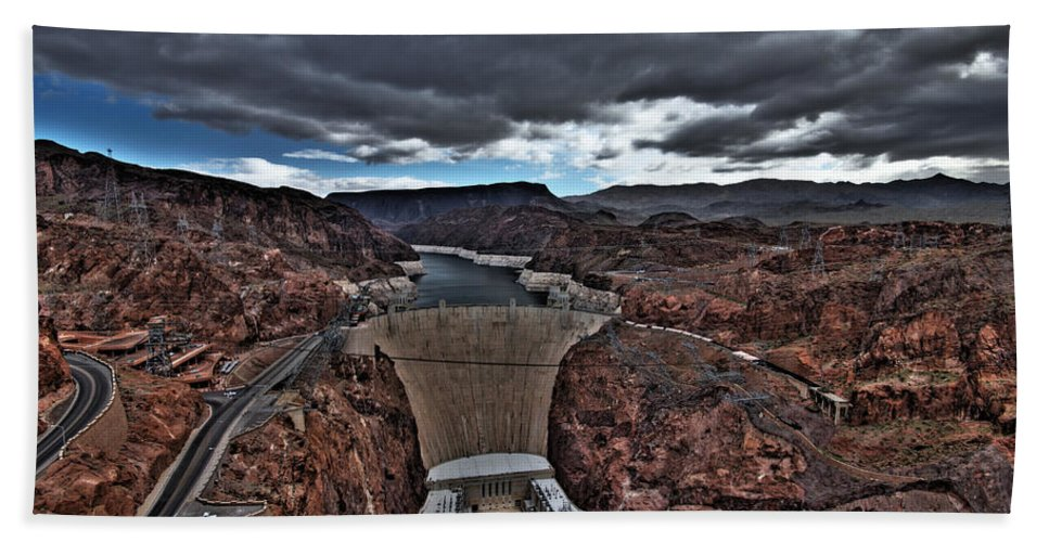 Boulder Bath Sheet featuring the photograph Concrete Canyon by Chance Chenoweth
