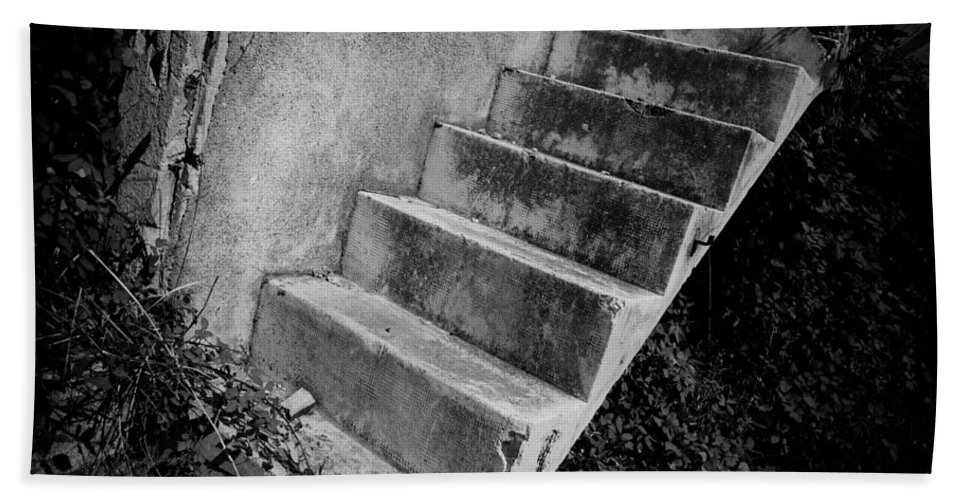 Stairs Hand Towel featuring the photograph Concrete Steps by David Hare