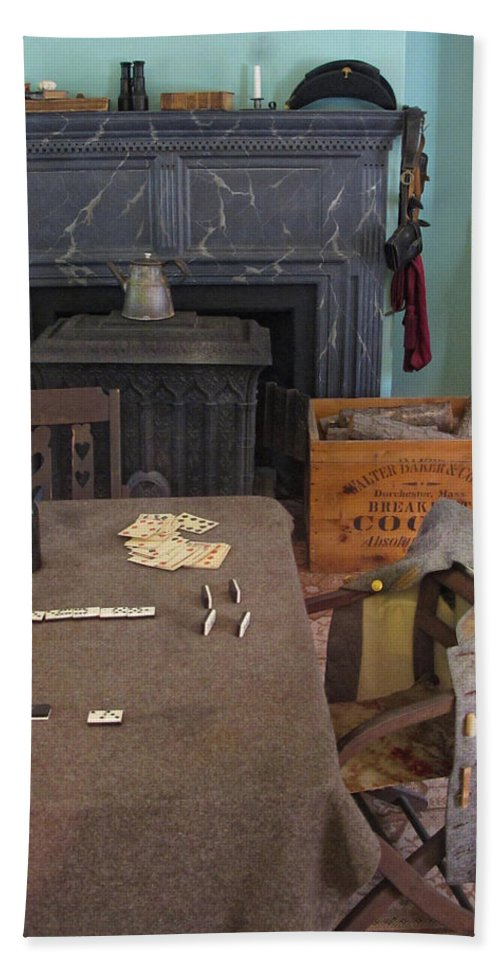 Civil War Hand Towel featuring the photograph Confederate Lodging by Dave Mills