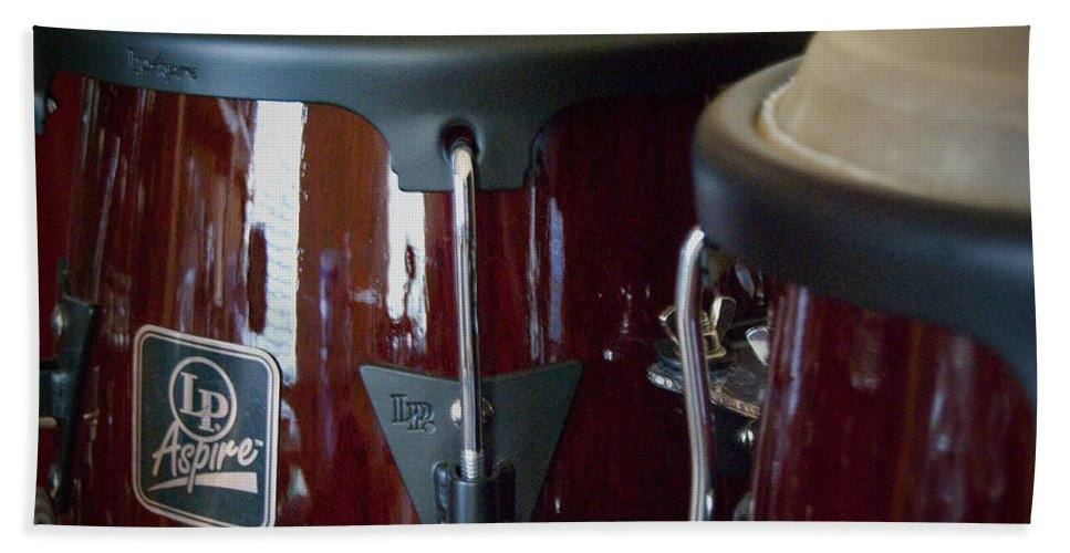 Featured Hand Towel featuring the photograph Congas by Paulette B Wright