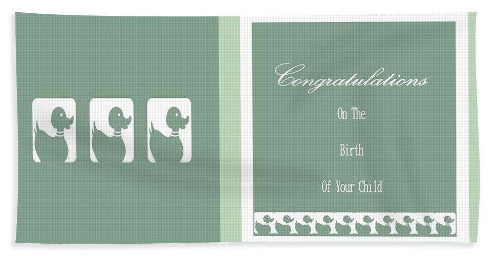 Congratulations On The Birth Of Your Child Bath Sheet featuring the photograph Congratulations On The Birth Of Your Child by Joy Watson