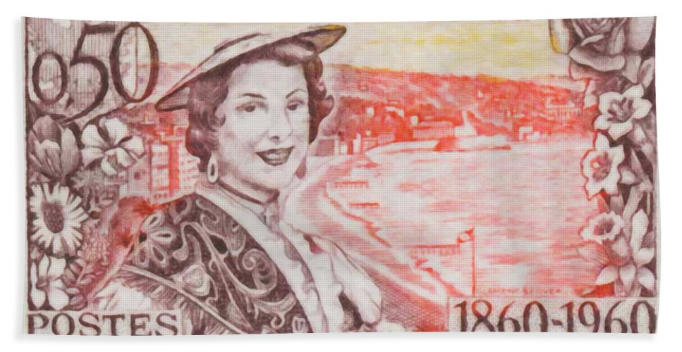 Coat Bath Sheet featuring the painting Connecting The Nice France 1860-1960 by Jeelan Clark