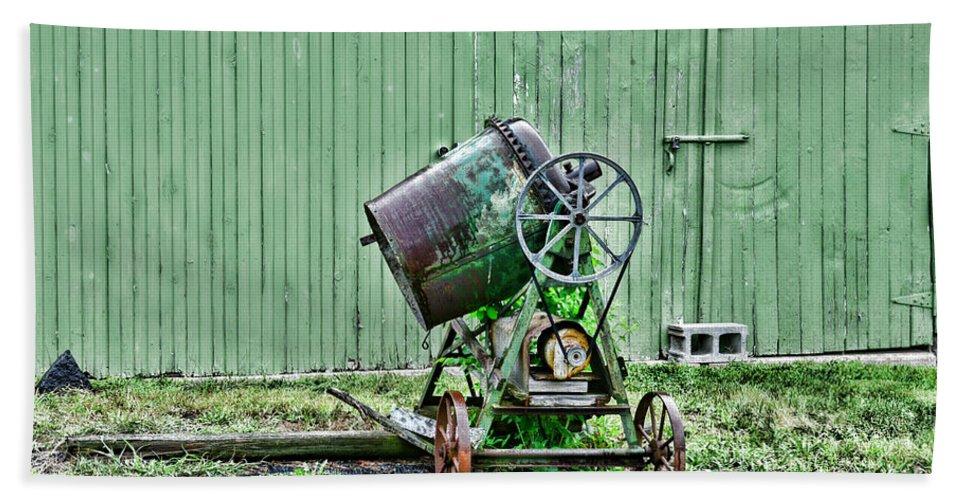 Paul Ward Bath Sheet featuring the photograph Construction - Cement Mixer by Paul Ward