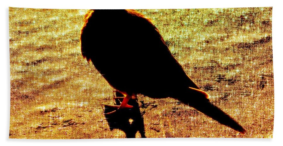 Bird Bath Sheet featuring the photograph Contemplation by Kathy Barney