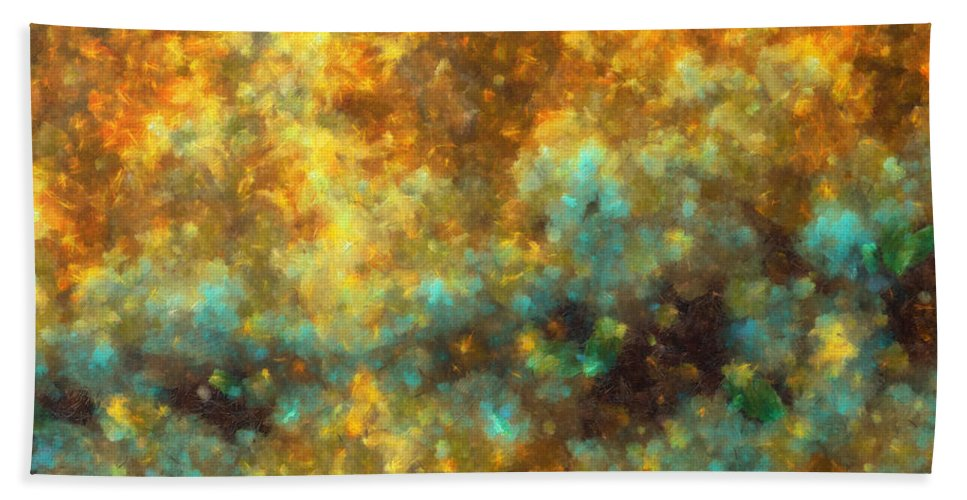 Bruise Hand Towel featuring the digital art Contusion-01 by RochVanh
