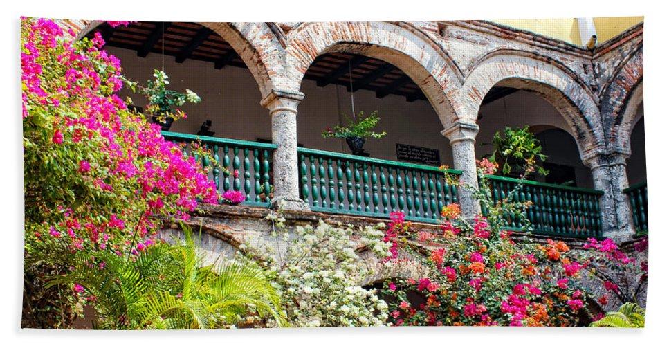 Cartagena Bath Sheet featuring the photograph Convento De La Popa Cartagena by Kurt Van Wagner