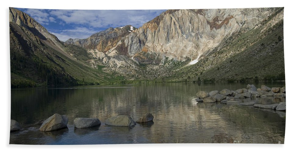 Convict Lake Hand Towel featuring the photograph Convict Lake Reflection by Sandra Bronstein