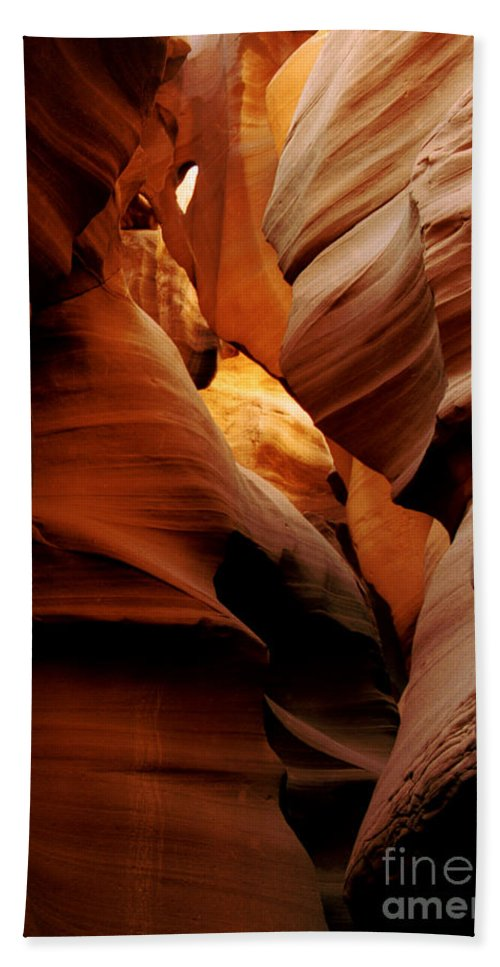 Antelope Canyon Bath Sheet featuring the photograph Convolusions by Kathy McClure