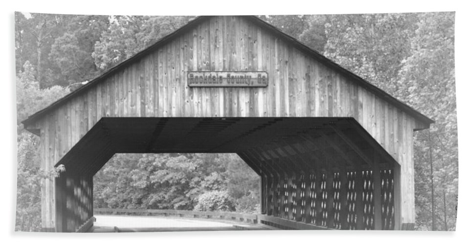 Covered Bath Sheet featuring the photograph Conyers Covered Bridge by Tara Potts