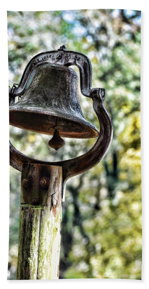 Still Life Hand Towel featuring the photograph Cooks Dinner Bell by Jan Amiss Photography