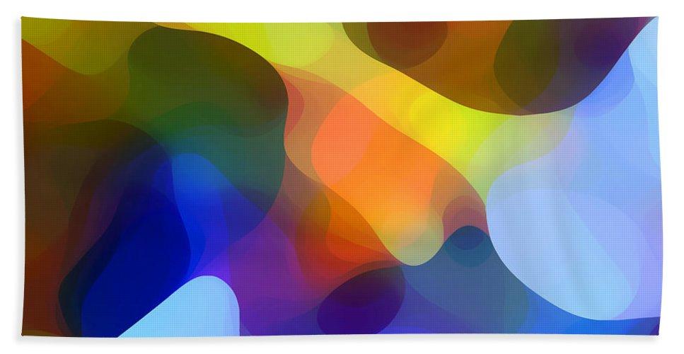 Bold Bath Sheet featuring the painting Cool Dappled Light by Amy Vangsgard