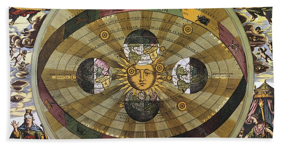 17th Century Hand Towel featuring the photograph Copernican Universe by Granger