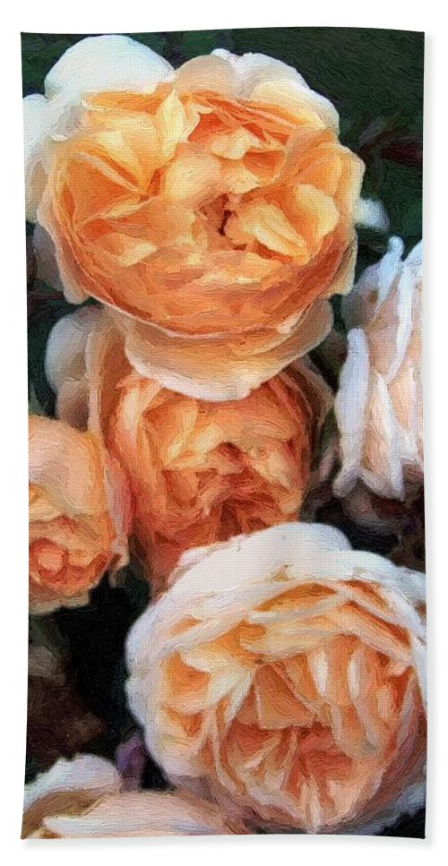 Roses Bath Sheet featuring the painting Copperblush by RC DeWinter