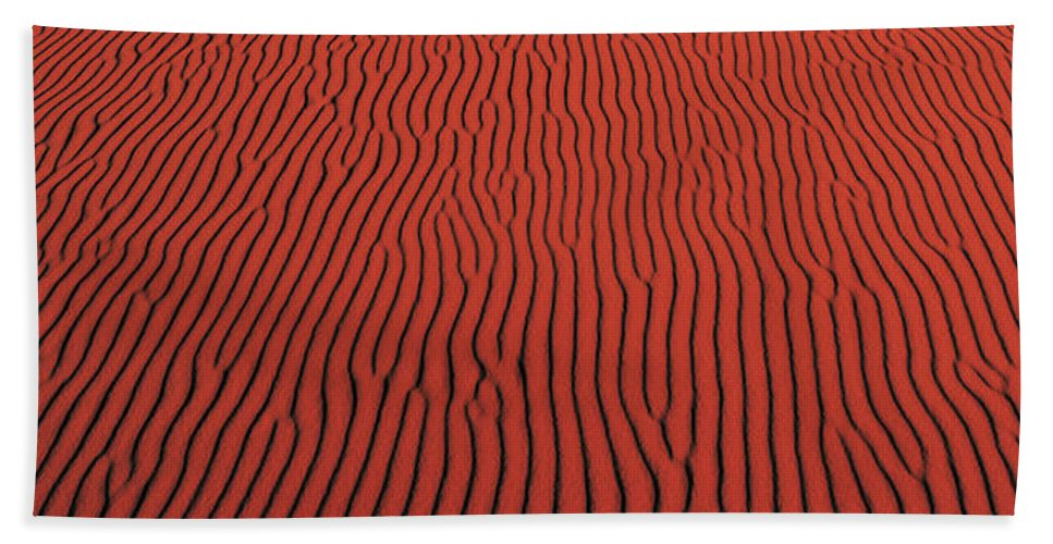 Photography Hand Towel featuring the photograph Coral Pink Sand Dunes State Park Ut Usa by Panoramic Images