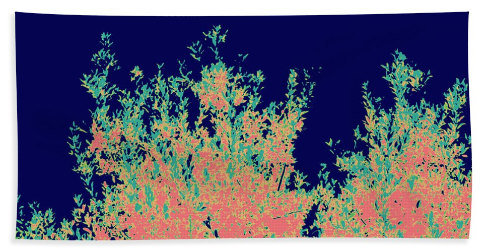 Digital Photograph Bath Sheet featuring the digital art Coral Reef Abstract by Laurie Pike