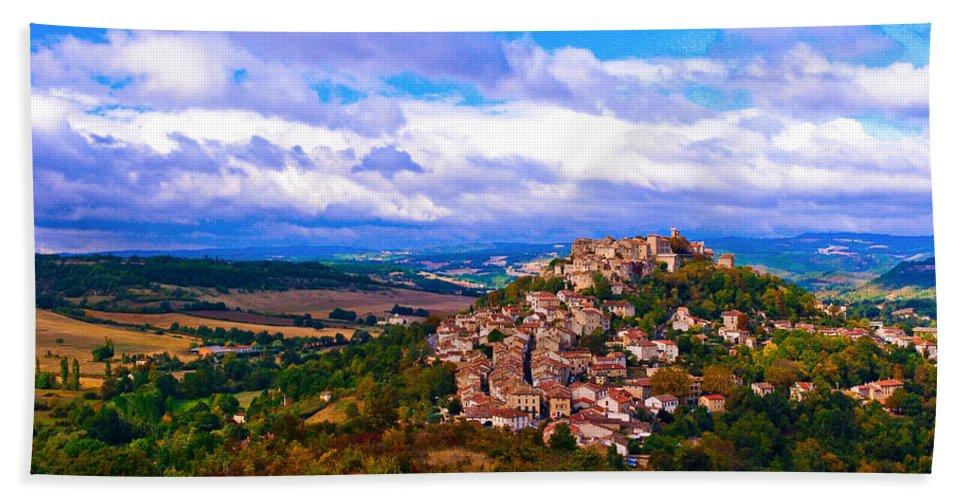 France Bath Sheet featuring the photograph Cordes-sur-ciel France by Jeff Black
