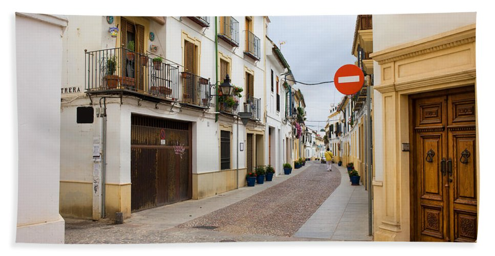 Andalucia Hand Towel featuring the photograph Cordoba Old Town Houses by Artur Bogacki