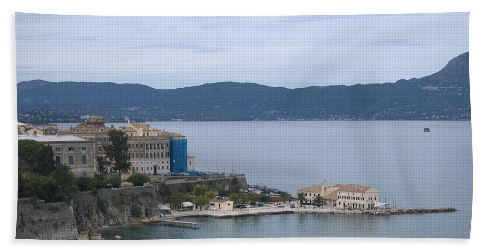 Corfu Bath Sheet featuring the photograph Corfu City 4 by George Katechis