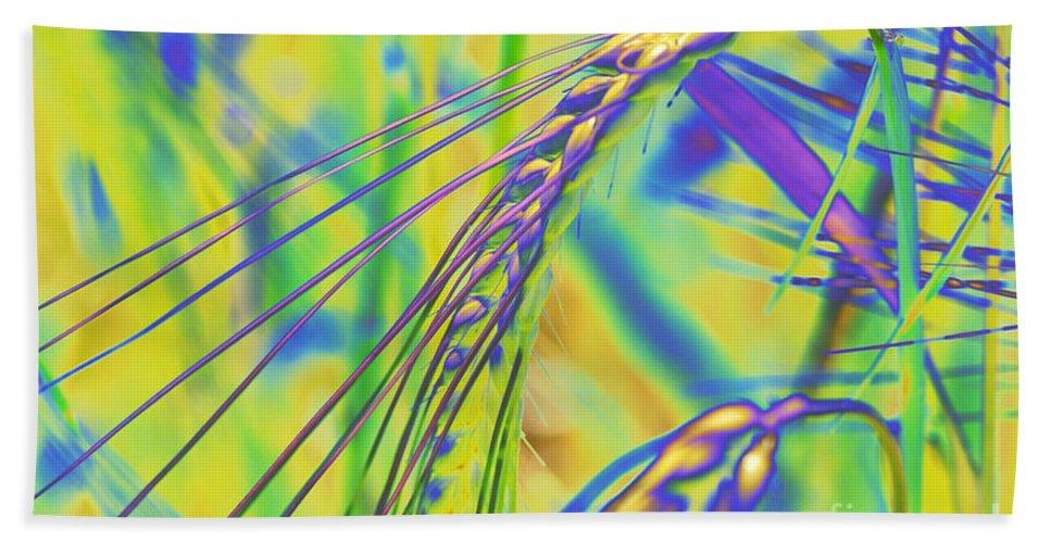 Corn Bath Sheet featuring the digital art Corn by Carol Lynch