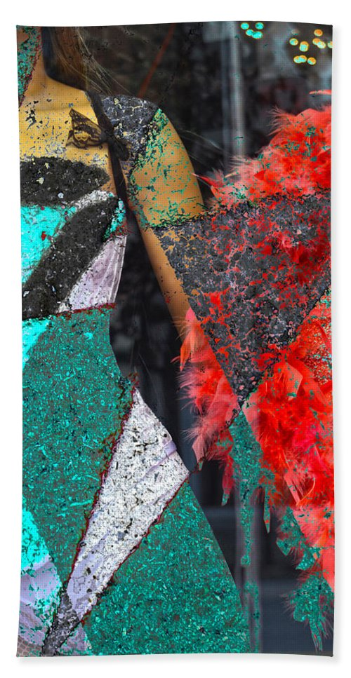 Abstract Art Hand Towel featuring the photograph Corner Dancer by The Artist Project