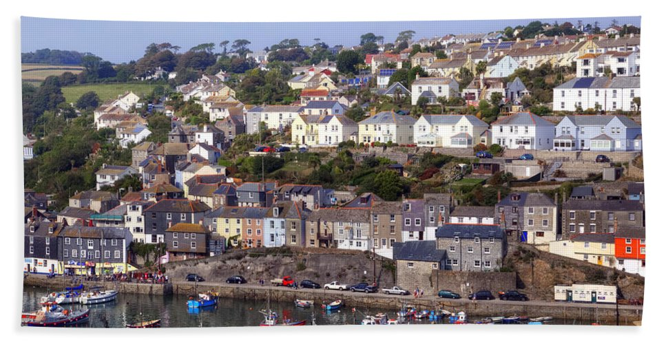 Mevagissey Bath Sheet featuring the photograph Cornwall - Mevagissey by Joana Kruse
