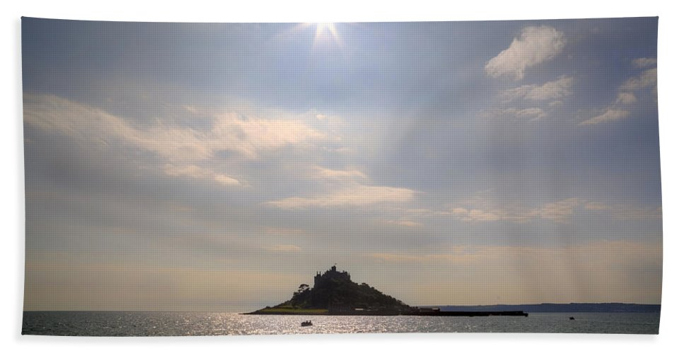 St Michael's Mount Bath Sheet featuring the photograph Cornwall - St Michael's Mount by Joana Kruse