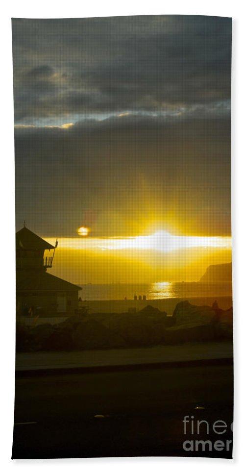 Claudia's Art Dream Bath Sheet featuring the photograph Coronado's Beach At Sunset by Claudia Ellis