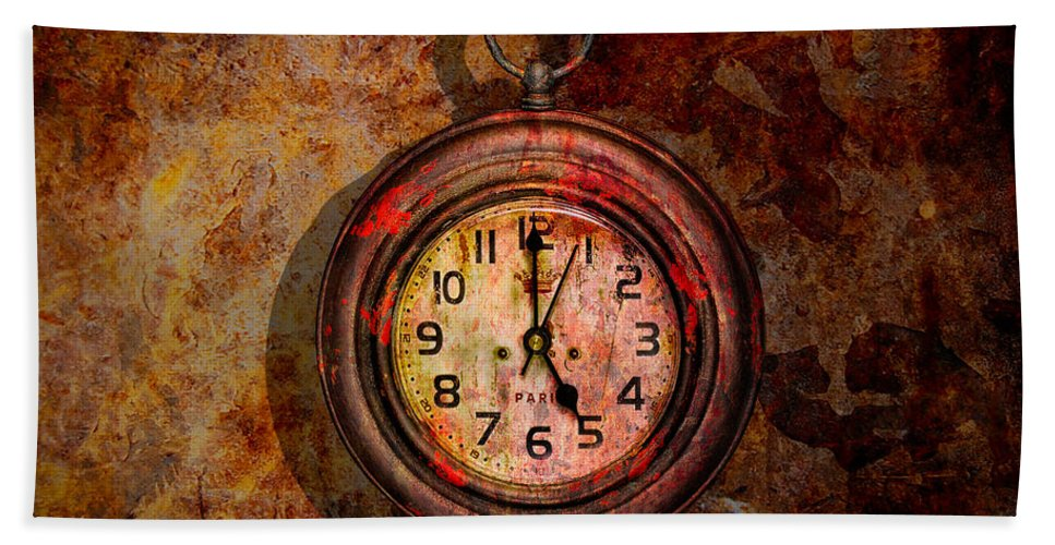 Christopher Holmes Photography Hand Towel featuring the photograph Corroded Time by Christopher Holmes