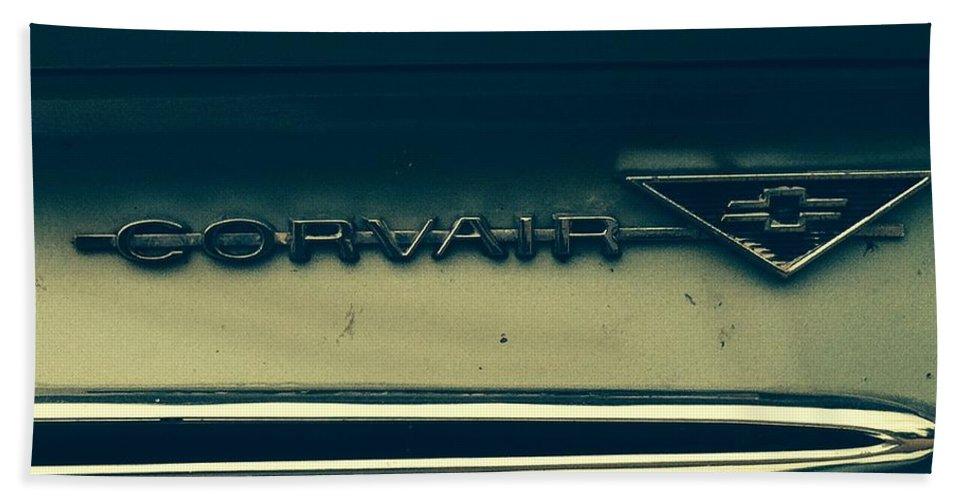 Classic Cars Bath Sheet featuring the photograph Corvair by Michael Krek