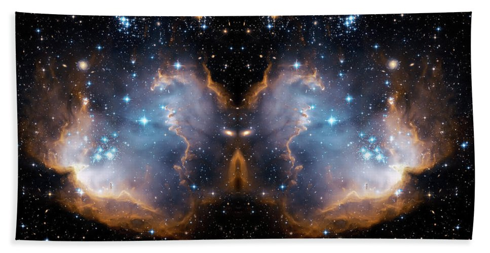Space Bath Sheet featuring the photograph Cosmic Butterfly by Jennifer Rondinelli Reilly - Fine Art Photography