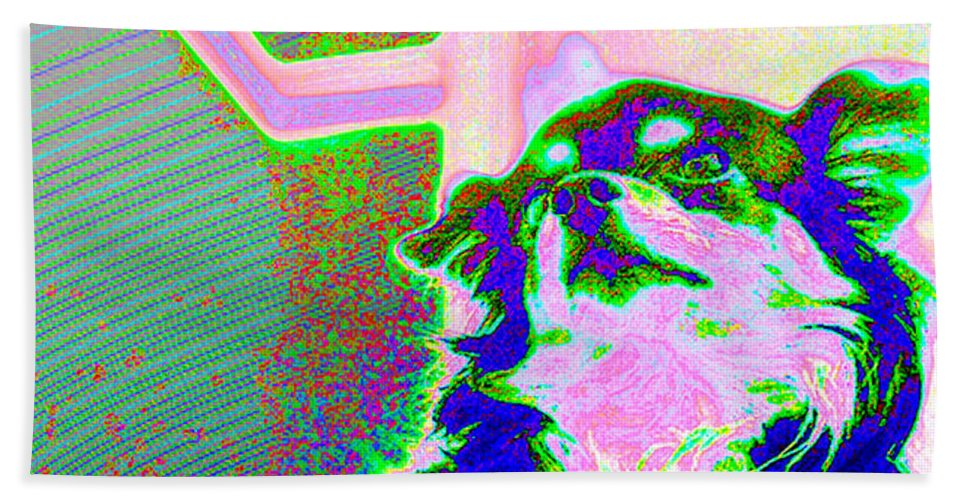 Pop Hand Towel featuring the photograph Cosmic Consciousness by Del Gaizo