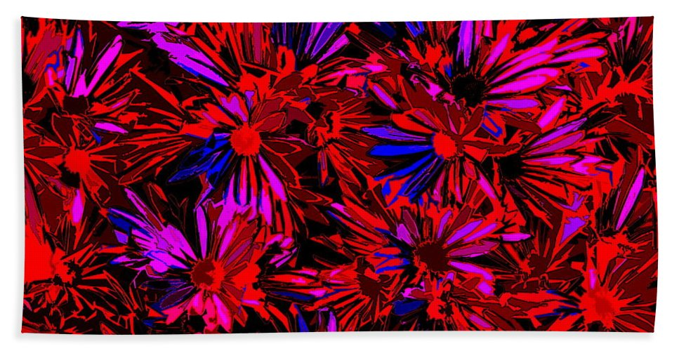 Art Hand Towel featuring the photograph Cosmic Flower Wall by Ben Upham III