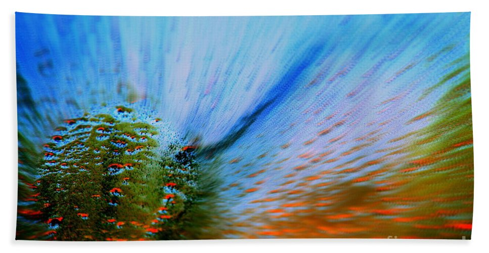 Cosmic Bath Towel featuring the photograph Cosmic Series 006 - Under The Sea by Larry Ward