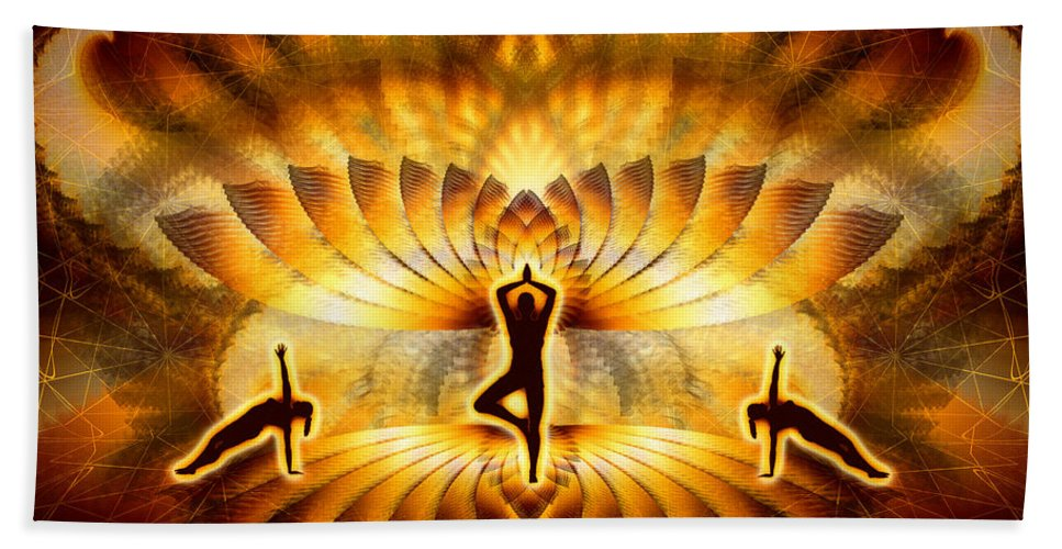 Cosmic Spiral Ascension Bath Sheet featuring the digital art Cosmic Spiral Ascension 23 by Derek Gedney