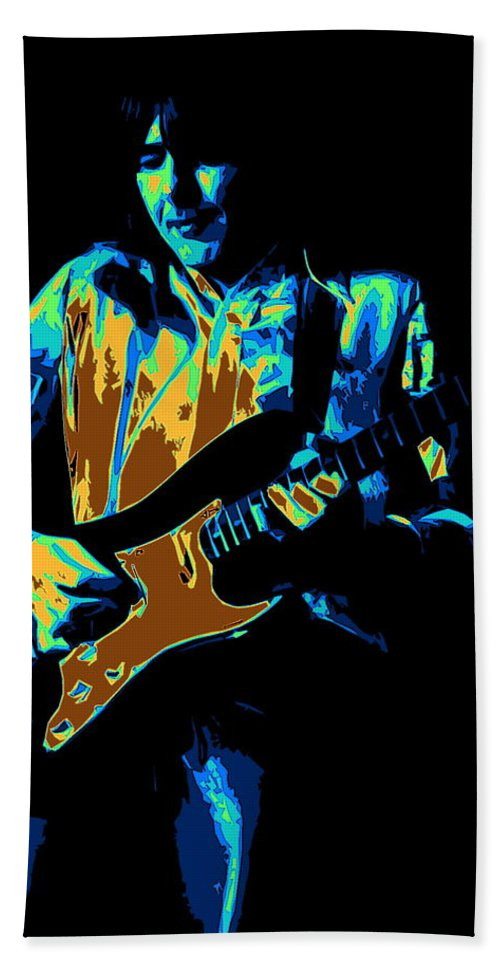 Mick Ralphs Bath Sheet featuring the photograph Cosmic Tones From Mick by Ben Upham
