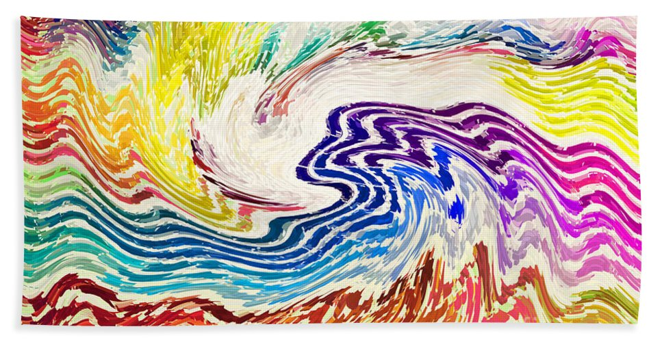 Waves Hand Towel featuring the photograph Cosmic Waves by Alys Caviness-Gober