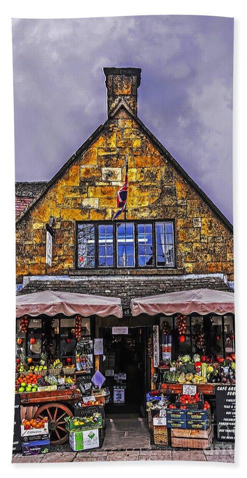 Travel Hand Towel featuring the photograph Cotswold Street Market by Elvis Vaughn
