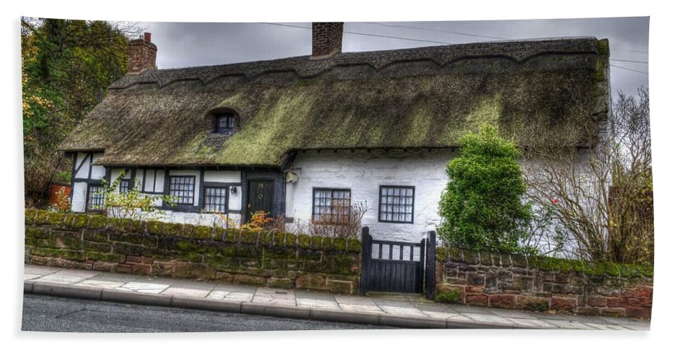 Thatched Cottage Hand Towel featuring the photograph Cottage 3 by Spikey Mouse Photography