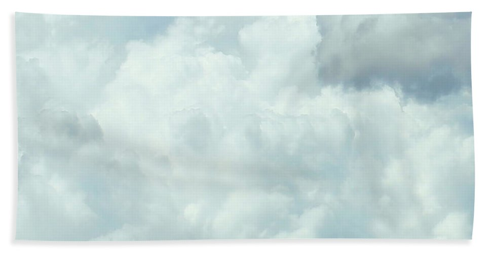 Nature Hand Towel featuring the photograph Cotton Candy Cloud by Kume Bryant