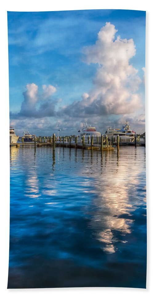 Boats Hand Towel featuring the photograph Cotton Candy by Debra and Dave Vanderlaan
