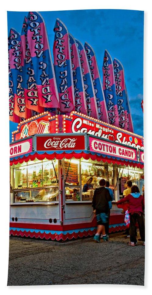 Bolton Fall Fair Hand Towel featuring the photograph Cotton Candy by Steve Harrington