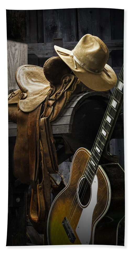 Landscape Hand Towel featuring the photograph Country And Western Music by Randall Nyhof