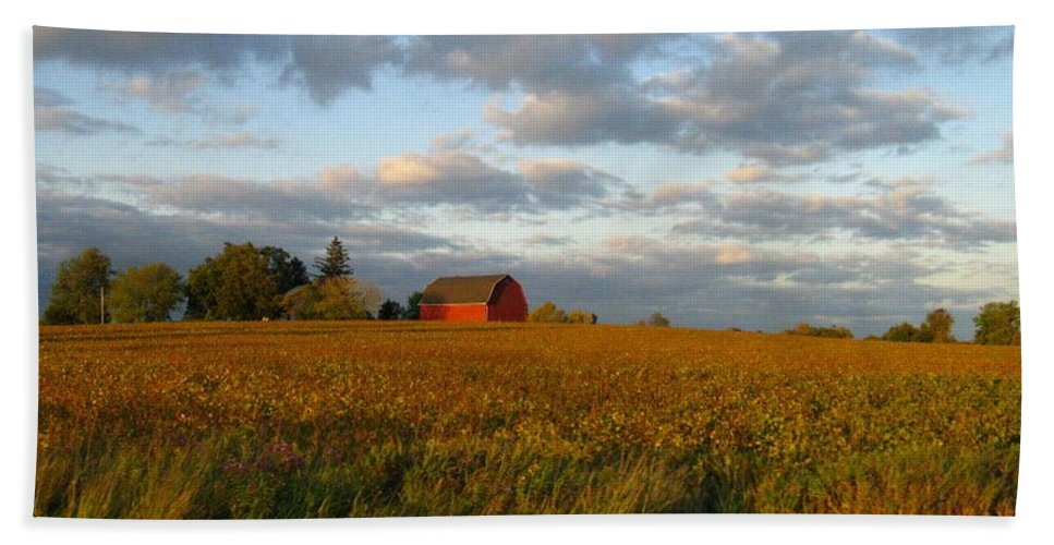 Landscape Hand Towel featuring the photograph Country Backroad by Rhonda Barrett