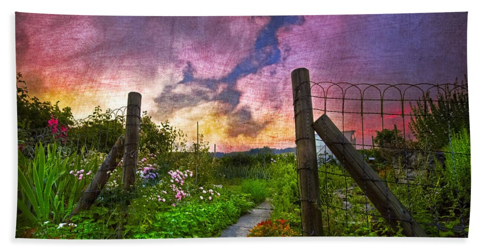 Appalachia Bath Sheet featuring the photograph Country Garden by Debra and Dave Vanderlaan