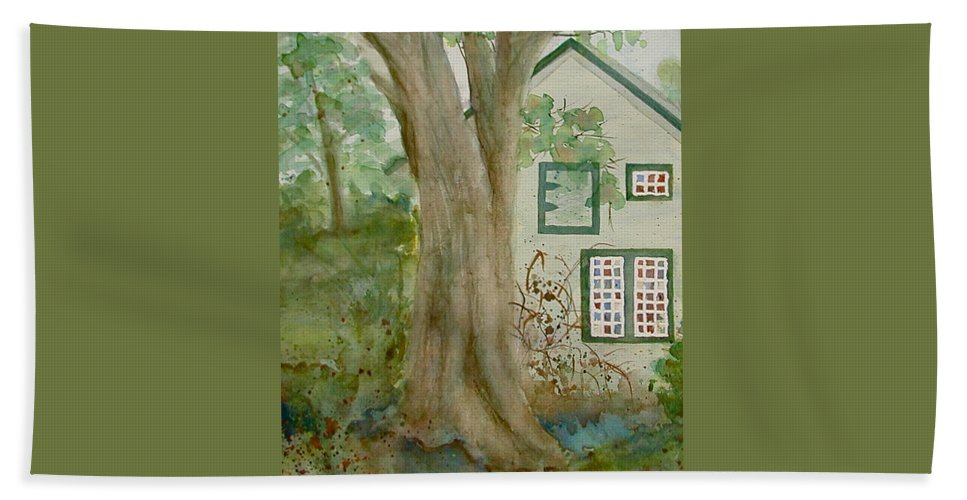 House Hand Towel featuring the painting Country Home by Anna Ruzsan