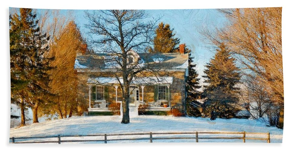 Country Living Hand Towel featuring the photograph Country Home Impasto by Steve Harrington