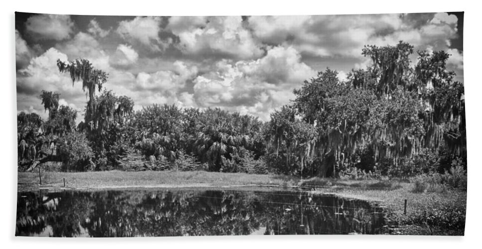 Florida Bath Towel featuring the photograph Country Lake 2 by Skip Nall
